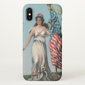 Funda Para iPhone X Señora Liberty del vintage