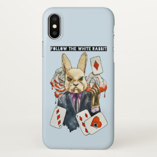 Funda Para iPhone X siga el conejo blanco