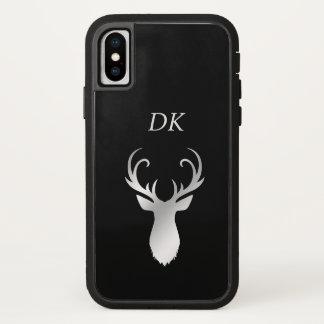 Funda Para iPhone X Silueta de plata de los ciervos de la asta del
