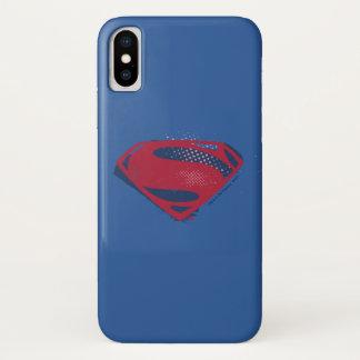 Funda Para iPhone X Símbolo del superhombre del cepillo y del tono