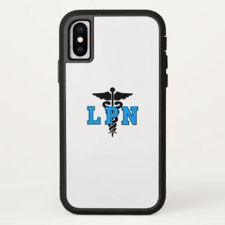 Funda Para iPhone X Símbolo médico de las enfermeras LPN
