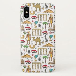 Funda Para iPhone X Símbolos del color del modelo de Egipto