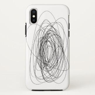Funda Para iPhone X smea hecho a mano del unto de la mancha de la