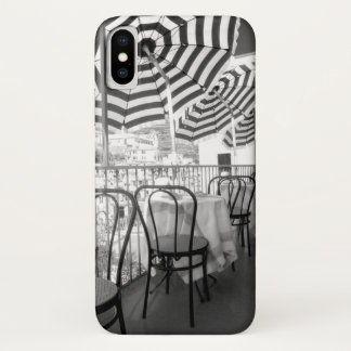 Funda Para iPhone X Tablas blancos y negros del restaurante