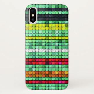 Funda Para iPhone X Tela colorida abstracta del edredón