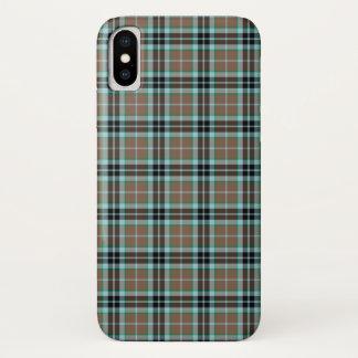 Funda Para iPhone X Tela escocesa escocesa de la caza de Thompson del
