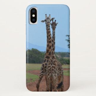 Funda Para iPhone X Teléfono de la jirafa