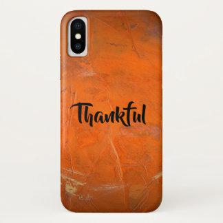 Funda Para iPhone X Terracota esmaltada agradecida