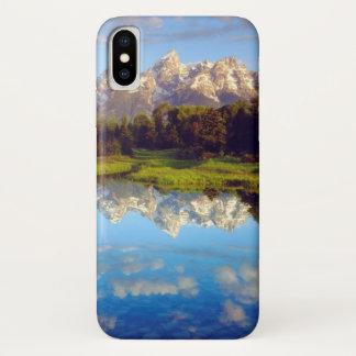 Funda Para iPhone X Tetons magnífico que refleja en el río Snake