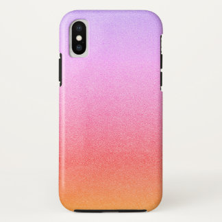 Funda Para iPhone X Textura visual Ombre del sorbete de la arena