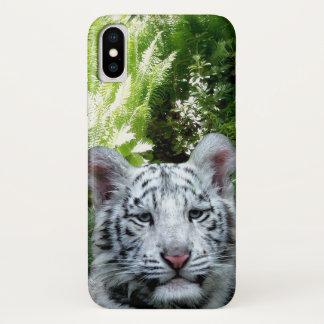 Funda Para iPhone X Tigre blanco