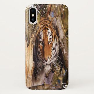 Funda Para iPhone X ¡Tigre ocultado! (Mirada sucia)