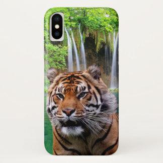 Funda Para iPhone X Tigre y cascada