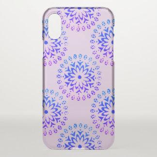 Funda Para iPhone X Tinta tribal de la púrpura de la mandala del