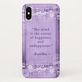 Funda Para iPhone X Tipografía inspirada de la cita de Buda