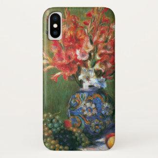 Funda Para iPhone X Todavía flores y fruta de la vida de Pedro Renoir