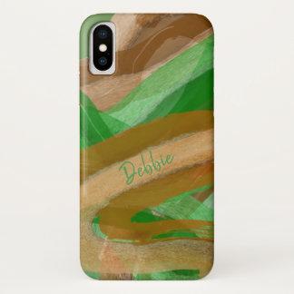Funda Para iPhone X Tonos cubiertos de musgo de la tierra de Brown