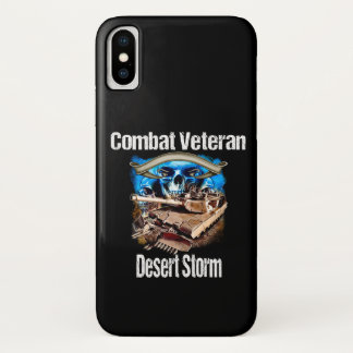 Funda Para iPhone X Tormenta de desierto del veterano del combate del