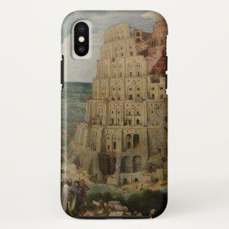 Funda Para iPhone X Torre de Babel de Pieter Bruegel la anciano, 1563