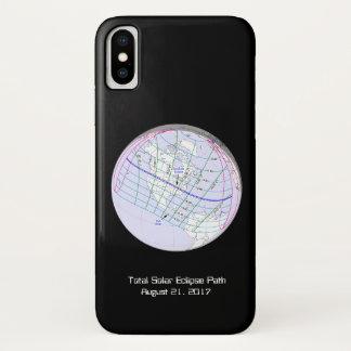 Funda Para iPhone X Trayectoria global del eclipse solar 2017 totales