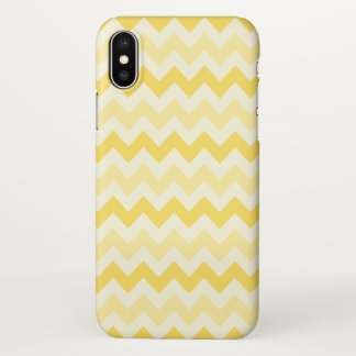 Funda Para iPhone X Tres tono Chevron amarillo