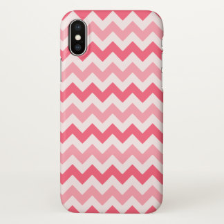 Funda Para iPhone X Tres tono Chevron rosado