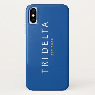 Funda Para iPhone X Tri delta el | Est. 1888