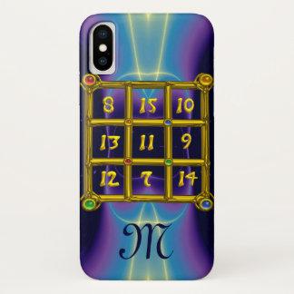 Funda Para iPhone X Trullo del MONOGRAMA del CUADRADO MÁGICO 33,