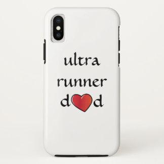 Funda Para iPhone X Ultra diseño rojo del corazón del papá del