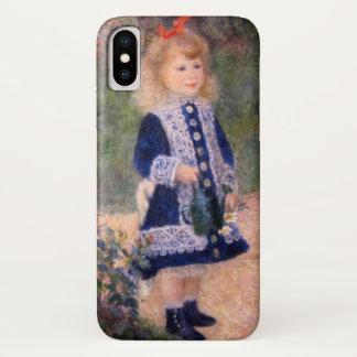 Funda Para iPhone X Un chica con una regadera por Renoir