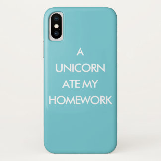 Funda Para iPhone X UN UNICORNIO COMIÓ MI caja del iPhone de la