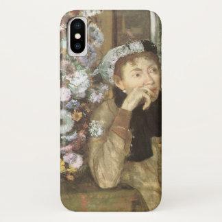 Funda Para iPhone X Una mujer con los crisantemos de Edgar Degas