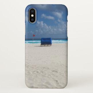 Funda Para iPhone X Una silla de playa aguarda