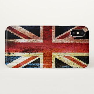 Funda Para iPhone X Union Jack antiguo