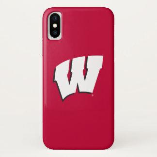 Funda Para iPhone X Universidad de Wisconsin el | del logotipo de