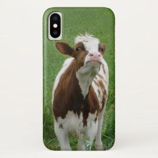 Funda Para iPhone X Vaca de leche de la lechería en la granja