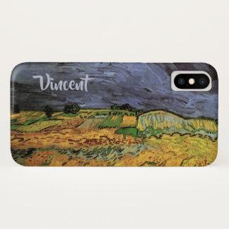 Funda Para iPhone X Van Gogh los campos, bella arte del paisaje del