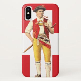 Funda Para iPhone X Vaquero suizo de Appenzell en traje tradicional