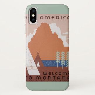 Funda Para iPhone X Vea la recepción a Montana, viaje de América del