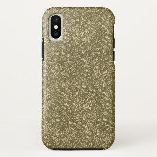 Funda Para iPhone X Verde occidental de la col rizada de la impresión