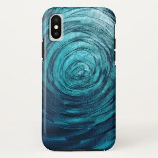Funda Para iPhone X Vórtice del zafiro - caso del iPhone X de Apple