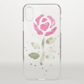 Funda Para iPhone X Watercolour subió (arte de Kimberly Turnbull)
