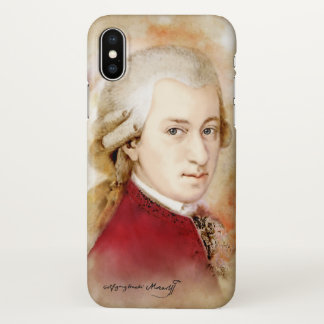 Funda Para iPhone X Wolfgang Amadeus Mozart - caso del iphone X