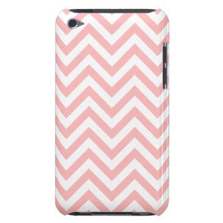 Funda Para iPod De Barely There El zigzag rosado y blanco raya el modelo de