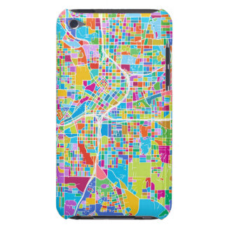 Funda Para iPod De Barely There Mapa colorido de Atlanta