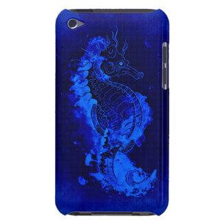 Funda Para iPod De Barely There Pintura azul del Seahorse