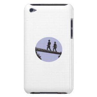 Funda Para iPod De Case-Mate Caminantes que cruzan el solo grabar en madera del