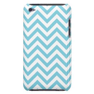 Funda Para iPod De Case-Mate El zigzag azul y blanco raya el modelo de Chevron