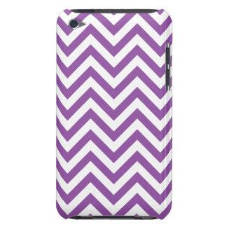 Funda Para iPod De Case-Mate El zigzag púrpura y blanco raya el modelo de
