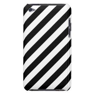 Funda Para iPod Modelo diagonal blanco y negro de las rayas